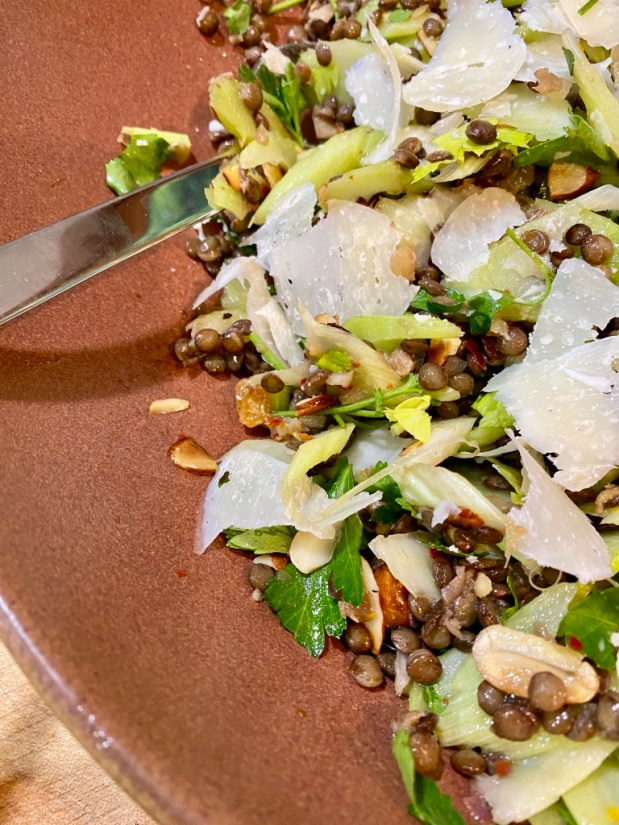 May – Celery and Lentil Salad with Salsa Verde