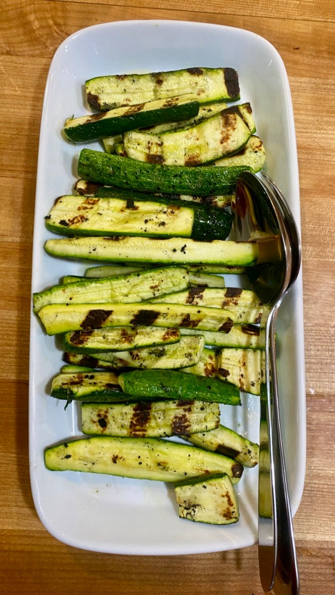Grilled Zucchini from the Fort Bragg garden