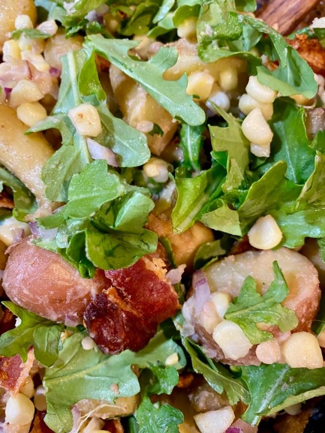 Potato Salad with Bacon and Corn