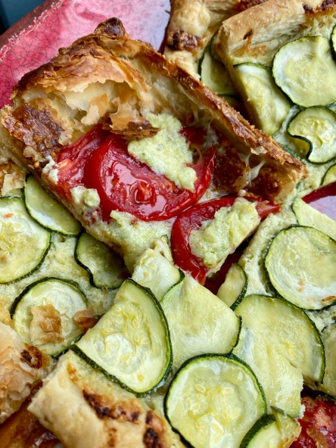 Puff Pastry Tomato and Mozzarella Tart