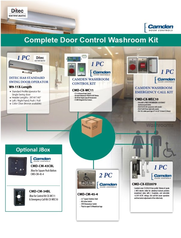 Modern Universal washroom kit flyer