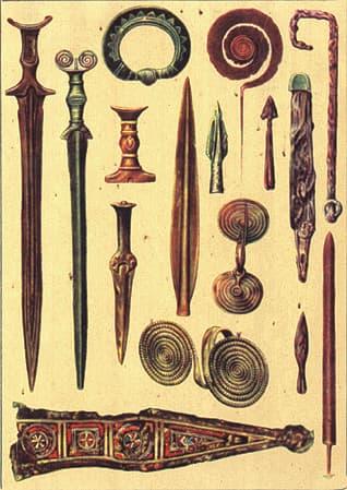 Bronze age weapons Romania