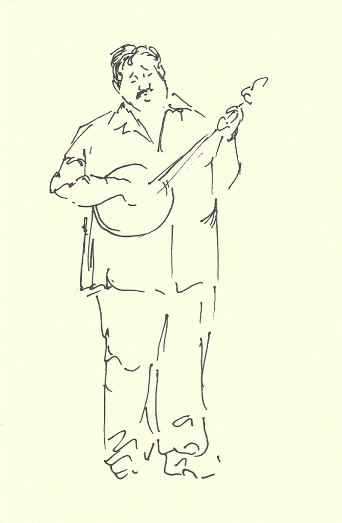 chubby banjo picker