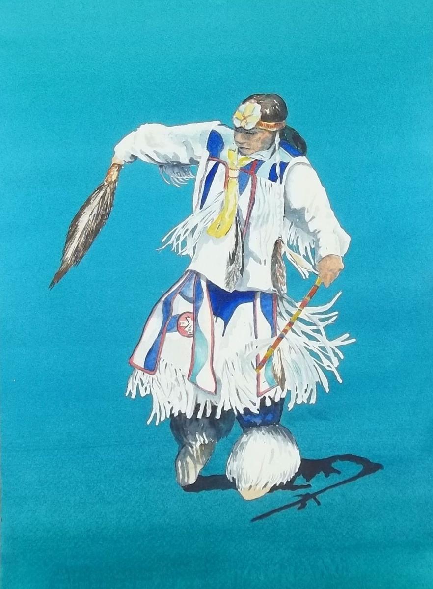 male Native American dancer