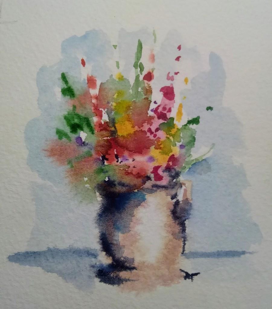 Vase of gladioa