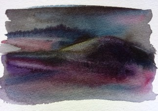 painting of a dark landscape