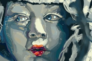 Speedpaint from a still of the music video for  Ladytron's 'Destroy Everything You Touch'