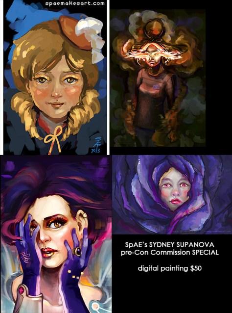 SpAE's SydNova SPECIAL - pre-Con Commissions!