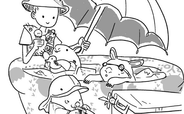 Wombat kindergarten: swim class