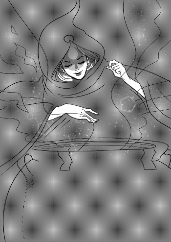 The Crone (WIP) Digital illustration, 2015