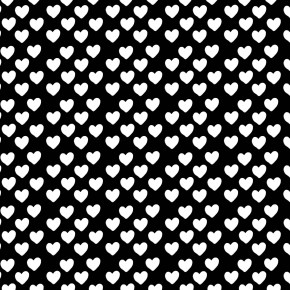VDAY2015 download freebie: Black and white hearts giftwrap in A4
