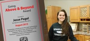Jesse Above and Beyond Award-Waverly