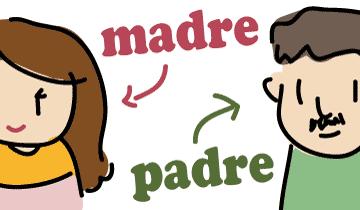 スペイン語 お母さん お父さん