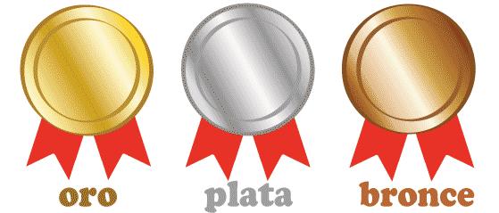 スペイン語 金 銀 銅
