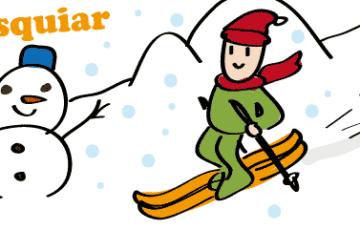 スペイン語 スキー esquiar