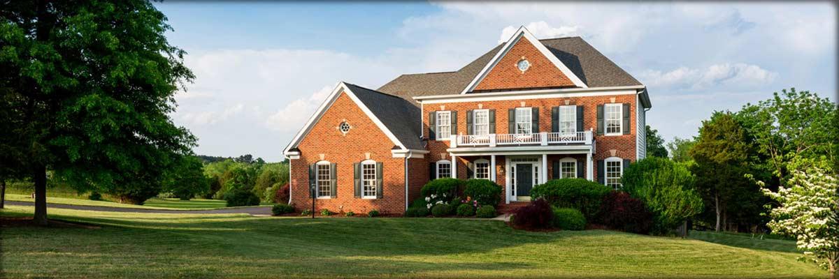 Photo of beautiful brick house