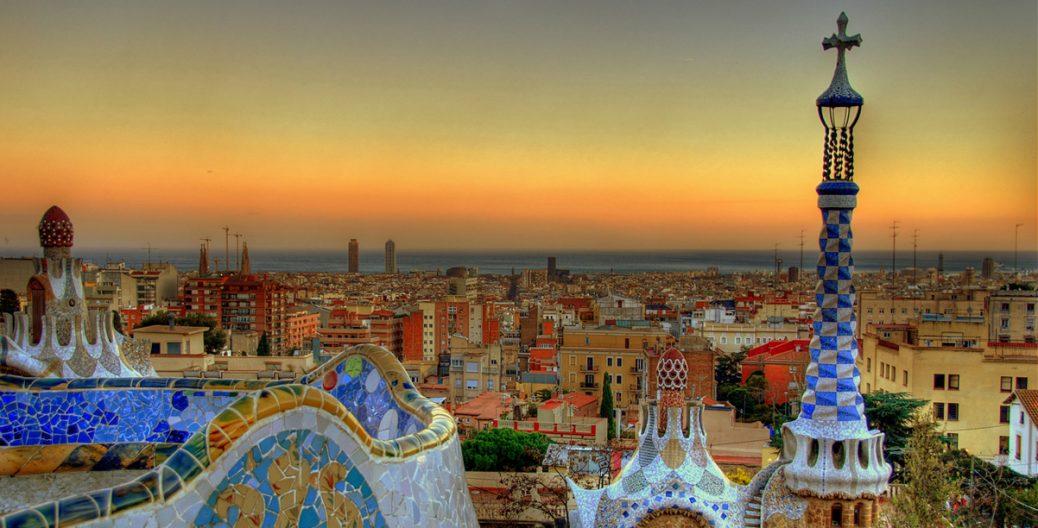 Atardecer en Barcelona