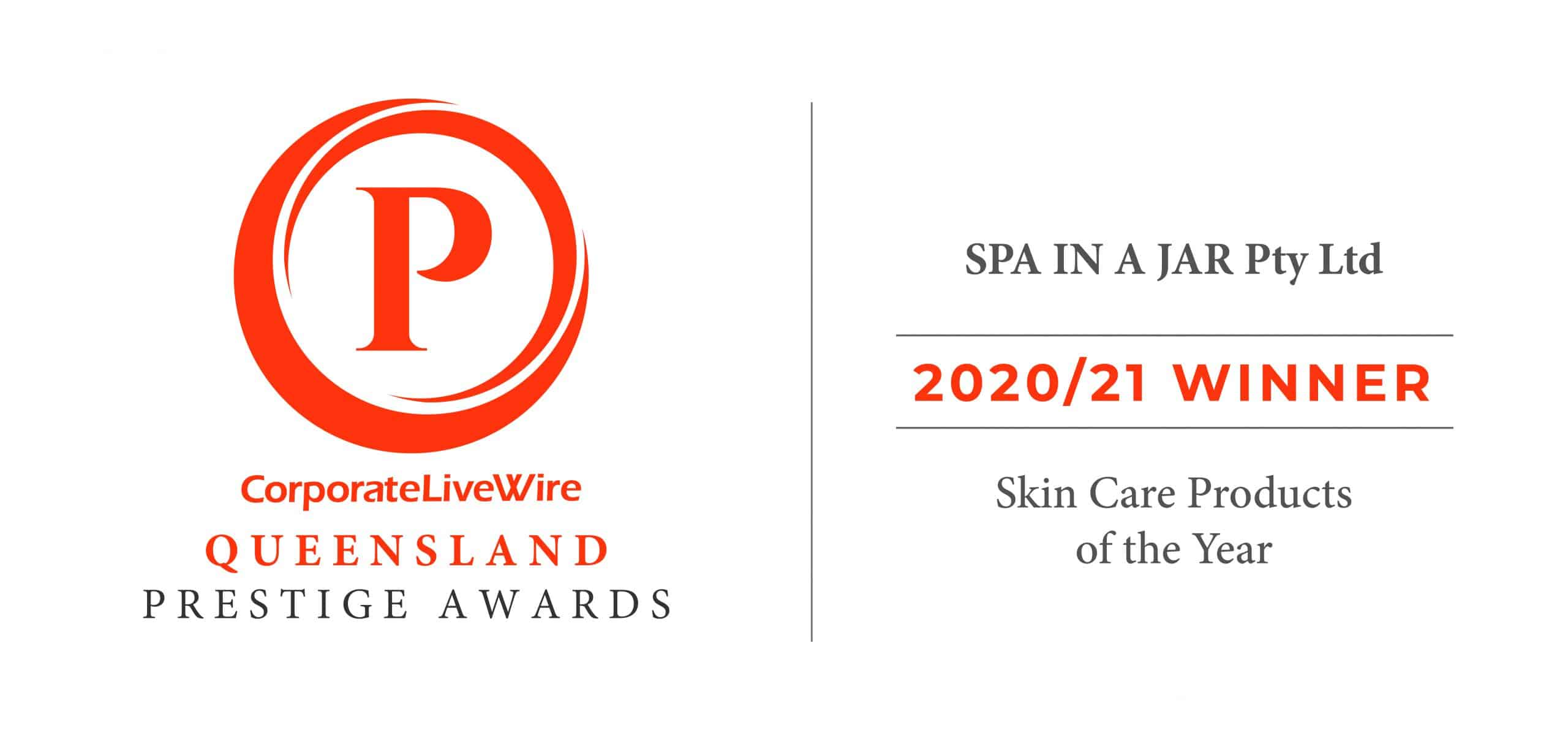 spajar skincare wins Queensland Prestige Awards 2020/21