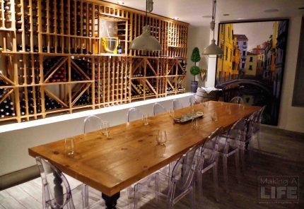Wine Cellar at Taris on the Water