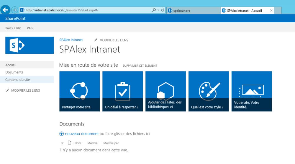 Créer son environnement de développement SharePoint 2013 sur VMWare Player / Windows Seven (3/3)