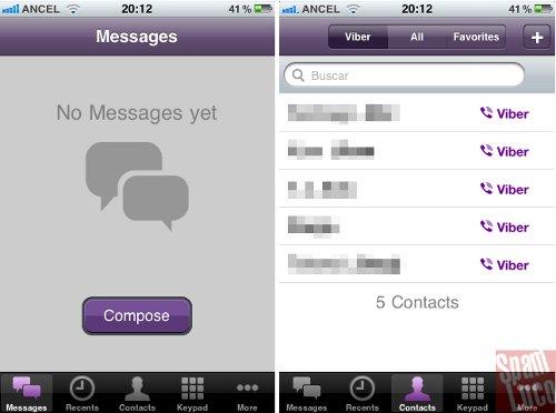 aplicacion viber en iphone