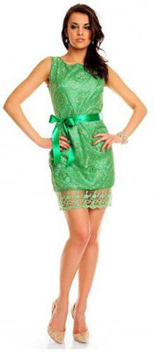 rochie-dantela-verde-florala
