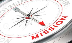"compass with the word ""mission"""