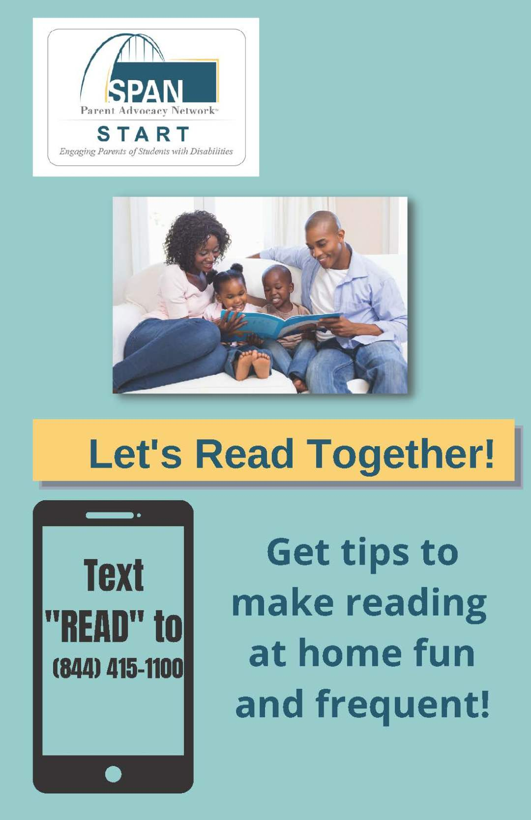 Text READ to (844)415-1100