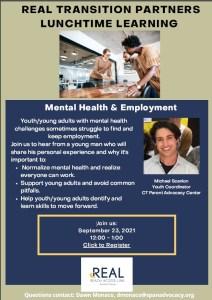 employment mental health webinar flyer