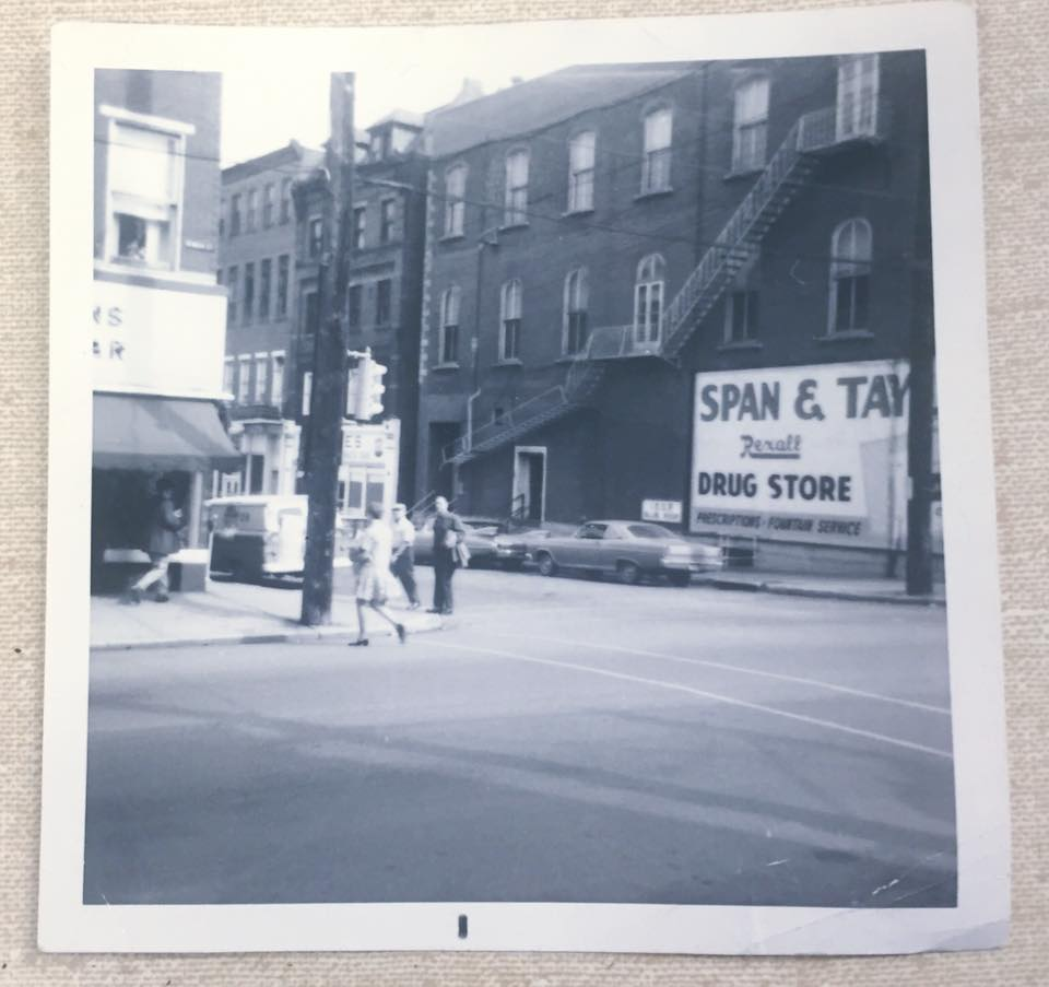 (Picture being used for About Us Section) old-school picture of the exterior of Span & Taylor Drug Co. in Monongahela, PA.