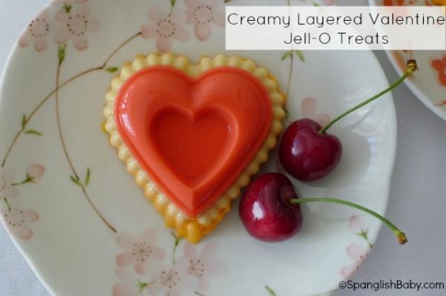 creamy layered valentines jell-o treats recipe