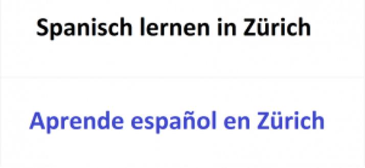 Spanisch lernen in Zürich