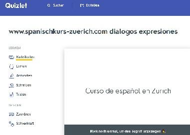Die beste App um Spanisch zu lernen Quizlet