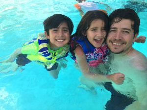 Papi & Kids Pool Time