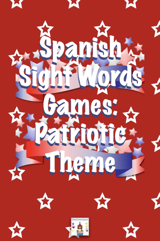 Spanish sight words patriotic activities