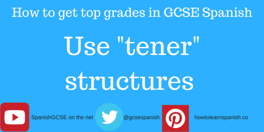 """Information about how to get the top grades in GCSE Spanish by using """"tener"""" expressions"""