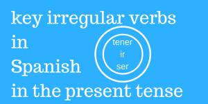 Spanish irregular verbs in the present tense