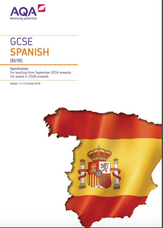 AQA GCSE Spanish Vocabulary list