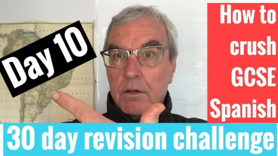 Spanish GCSE 30 day revision challenge | day 10