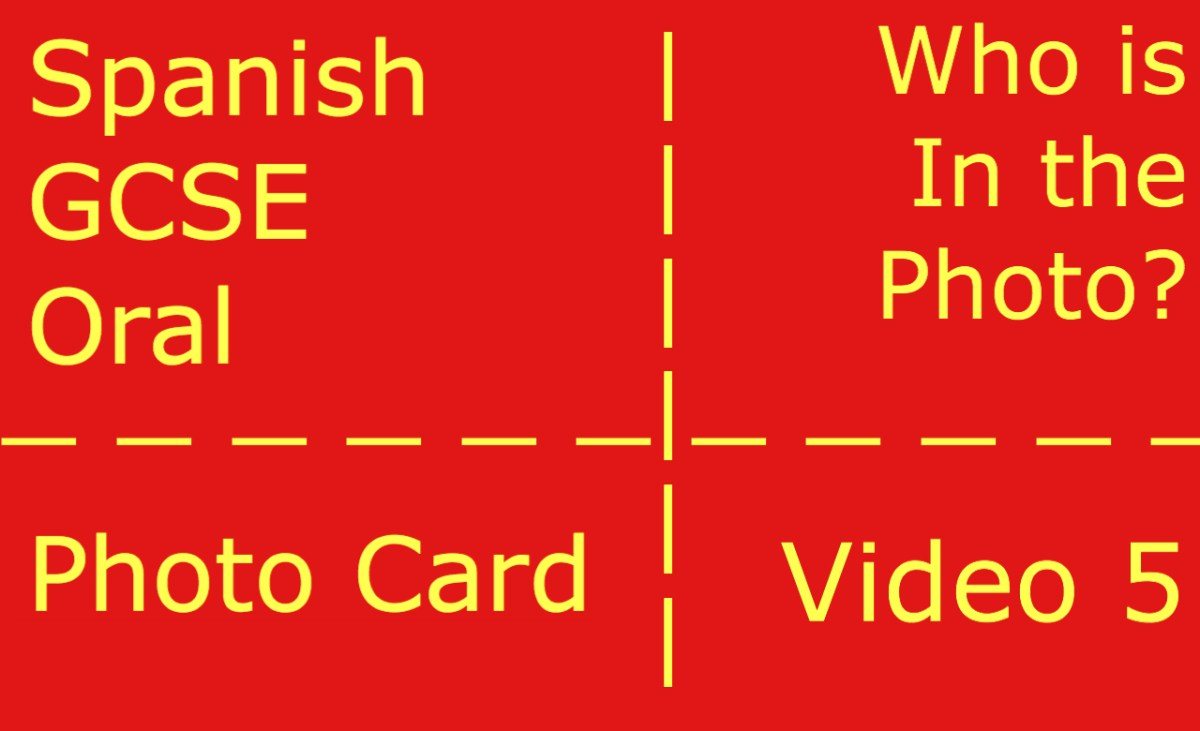 GCSE Spanish oral - photocard - who is in the photo?