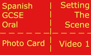 GCSE Spanish oral - photocard - setting the scene