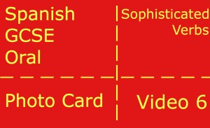 GCSE Spanish oral - photocard - sophisticated verbs