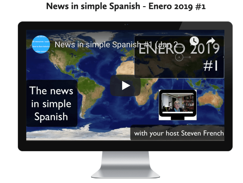 News in simple Spanish #1