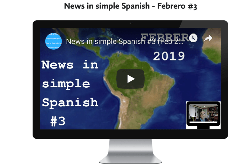 News in simple Spanish #4