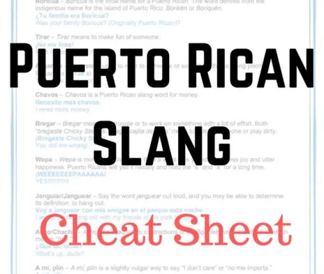 Puerto Rican Slangs