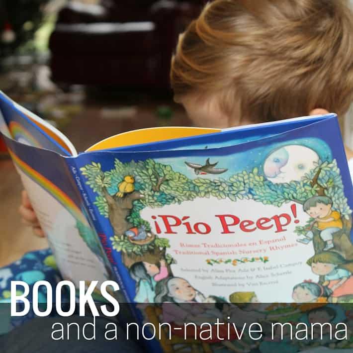 books and a non-native mama