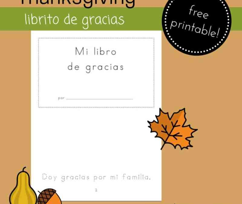 Printable Thanksgiving Mini-book