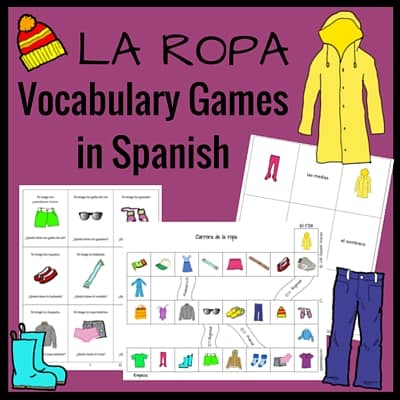 Clothing Vocabulary Games