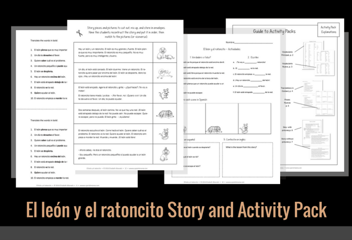 El león y el ratoncito Story and Activity Pack