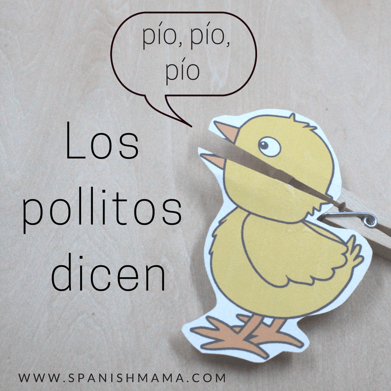 Greeting activities in preschool spanish for the first week los pollitos dice free printable puppets and lyrics m4hsunfo